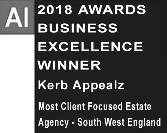AI Award, Kerb Appealz Most Client Focused Estate Agent - South West England 2018