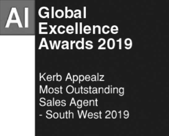 AI Award, Kerb Appealz Most Outstanding Sales Agent - South West 2019