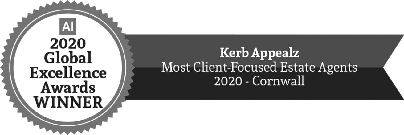 AI Award, Kerb Appealz Most Client-Focused Estate Agents - Cornwall 2020