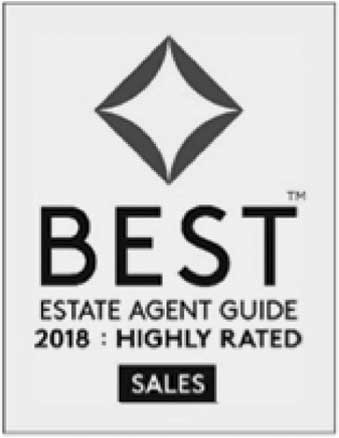 Award: Best Estate Agent Guide, 2018: highly rated