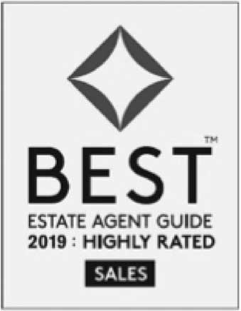 Award: Best Estate Agent Guide, 2019: highly rated