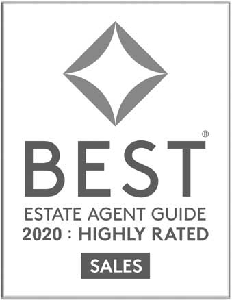 Award: Best Estate Agent Guide, 2020: highly rated