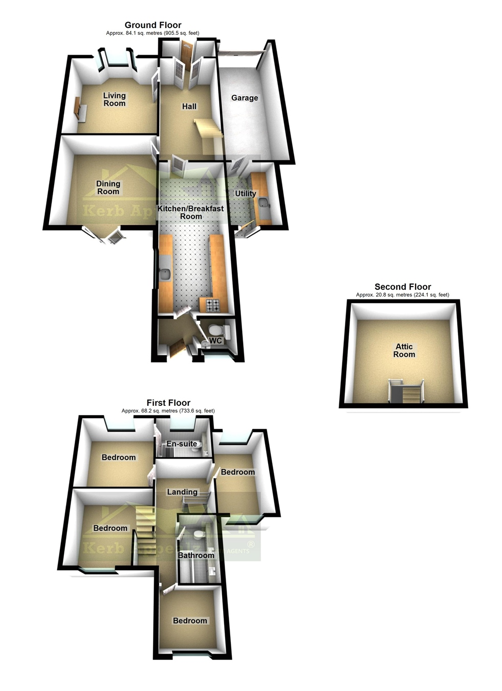 Floorplan 1 of  for sale in Heamoor