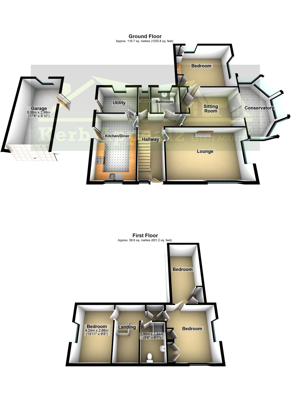 Floorplan 1 of  for sale in Lelant
