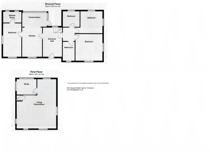 Floorplan 1 of  for sale in Mousehole