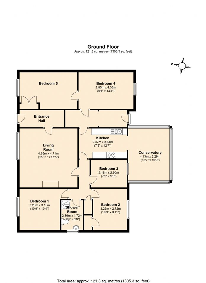 Floorplan 1 of  for sale in Penzance
