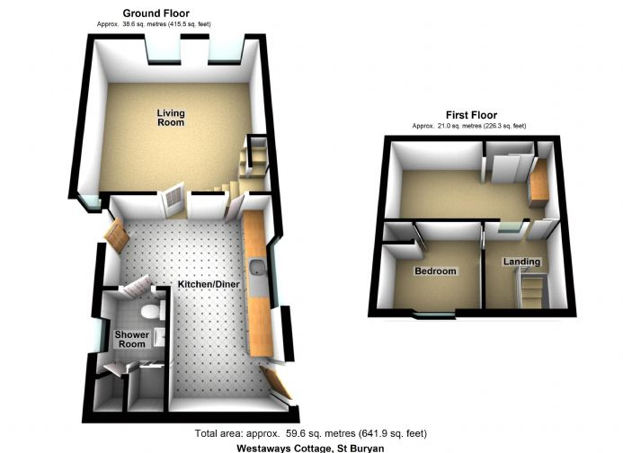 Floorplan 1 of  for sale in St Buryan
