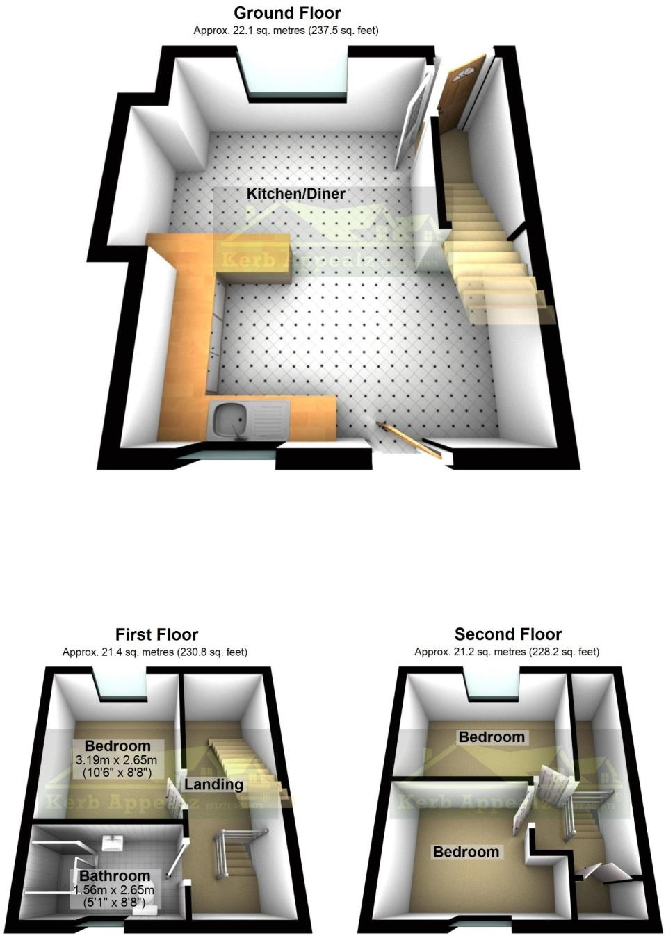 Floorplan 2 of  for sale in Mousehole