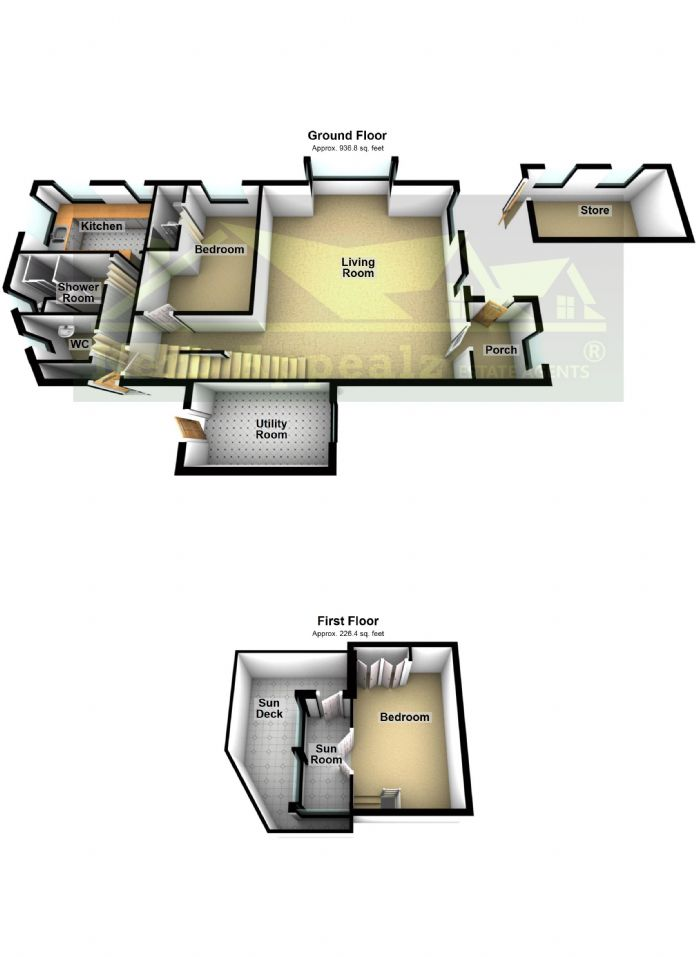 Floorplan 2 of  for sale in Sennen Cove