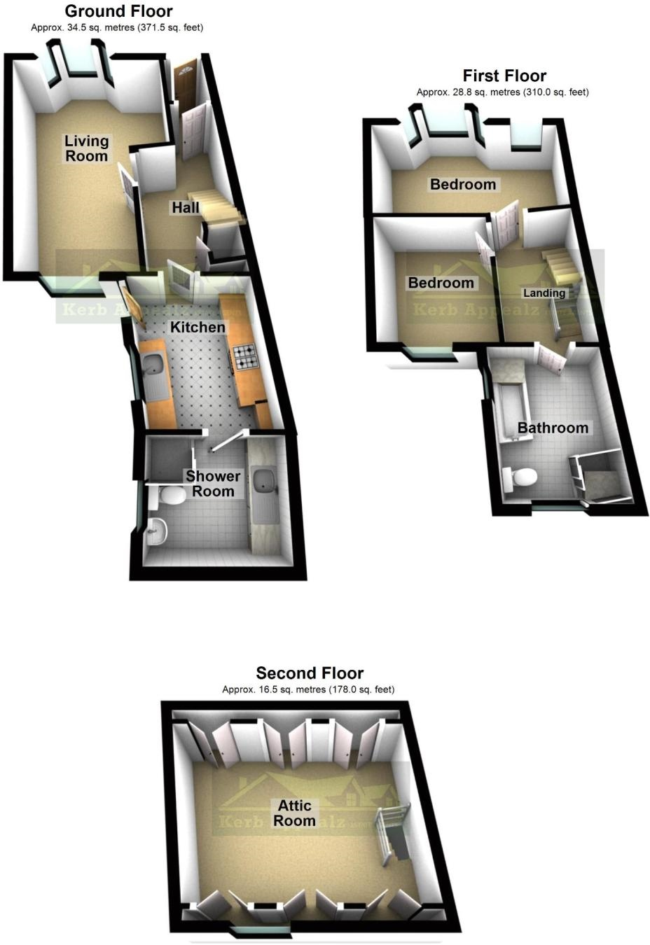 Floorplan 2 of  for sale in Penzance