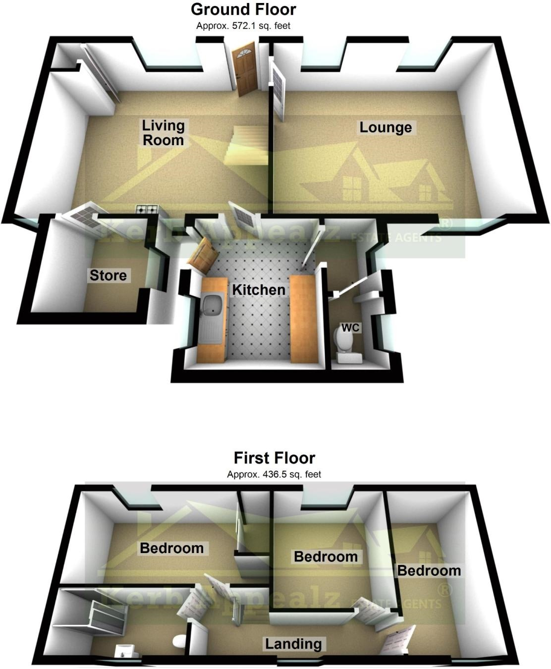 Floorplan 2 of  for sale in Heamoor