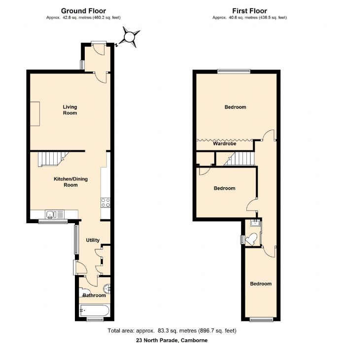 Floorplan 1 of  for sale in Camborne