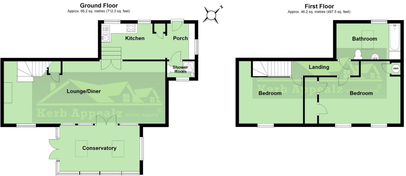 Floorplan 1 of  for sale in Lamorna