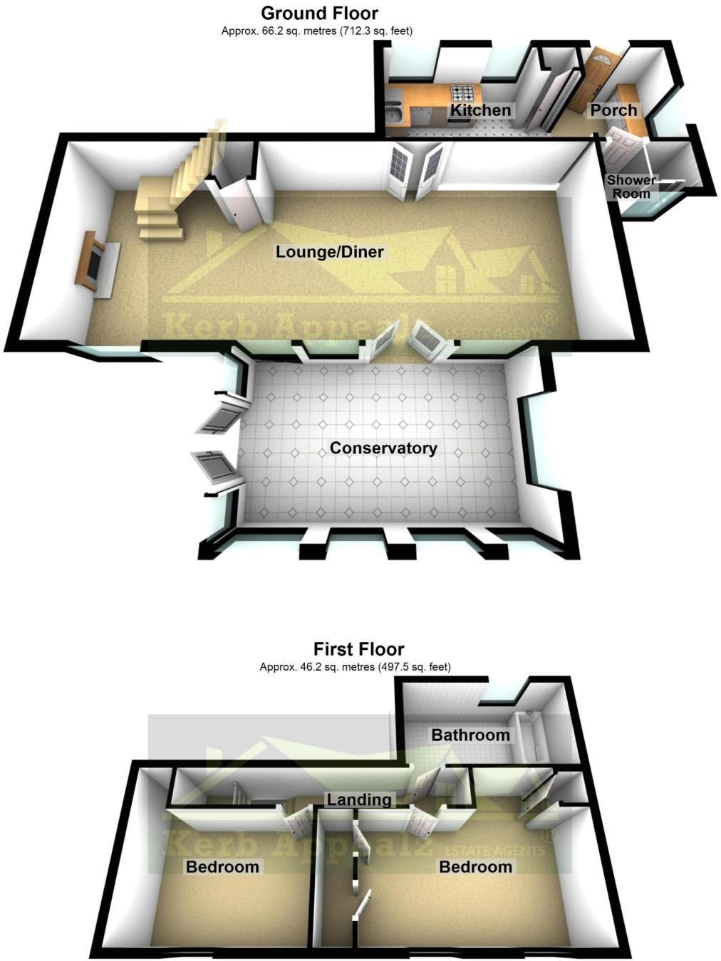 Floorplan 2 of  for sale in Lamorna