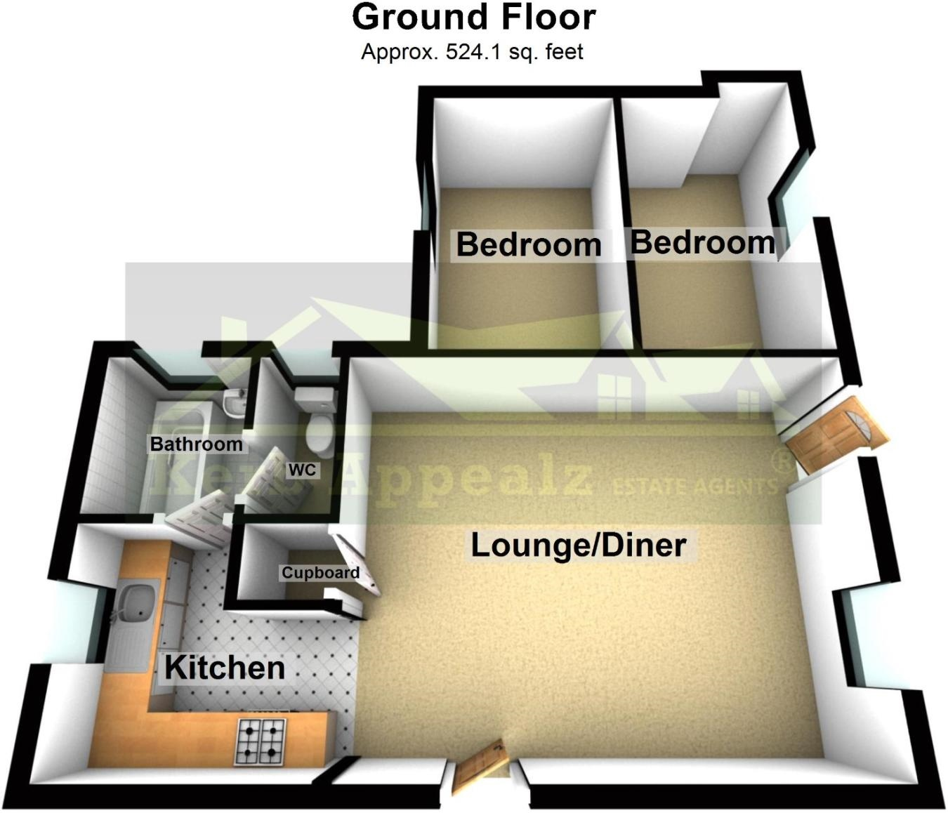 Floorplan 2 of  for sale in Sennen
