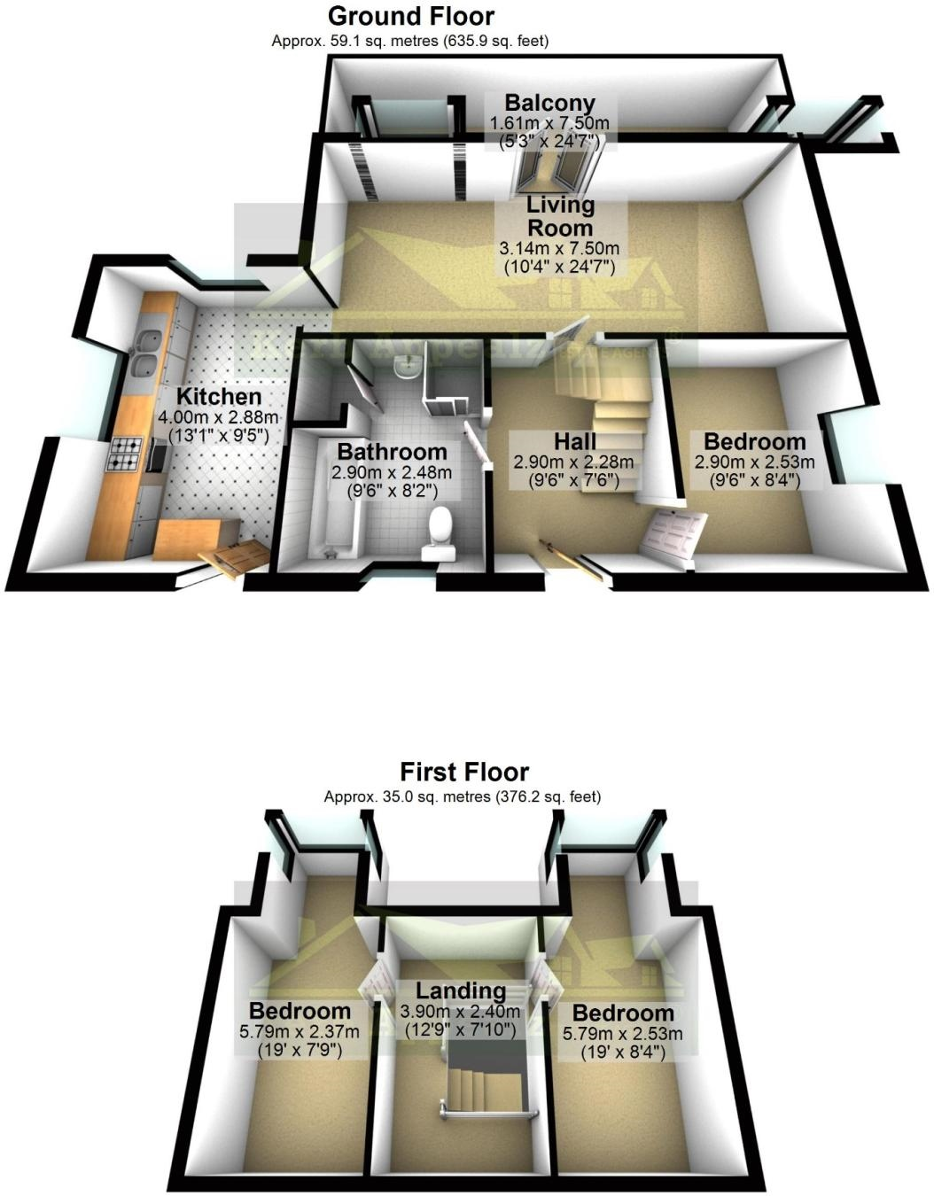 Floorplan 1 of  for sale in Sennen Cove