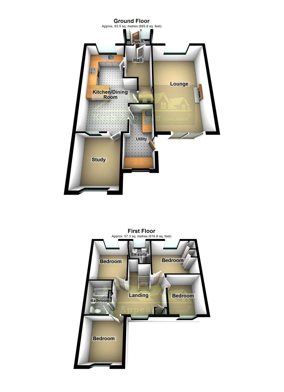 Floorplan 1 of  for sale in Pendeen