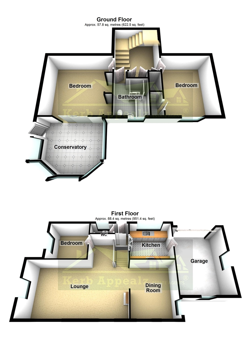 Floorplan 1 of  for sale in Ludgvan
