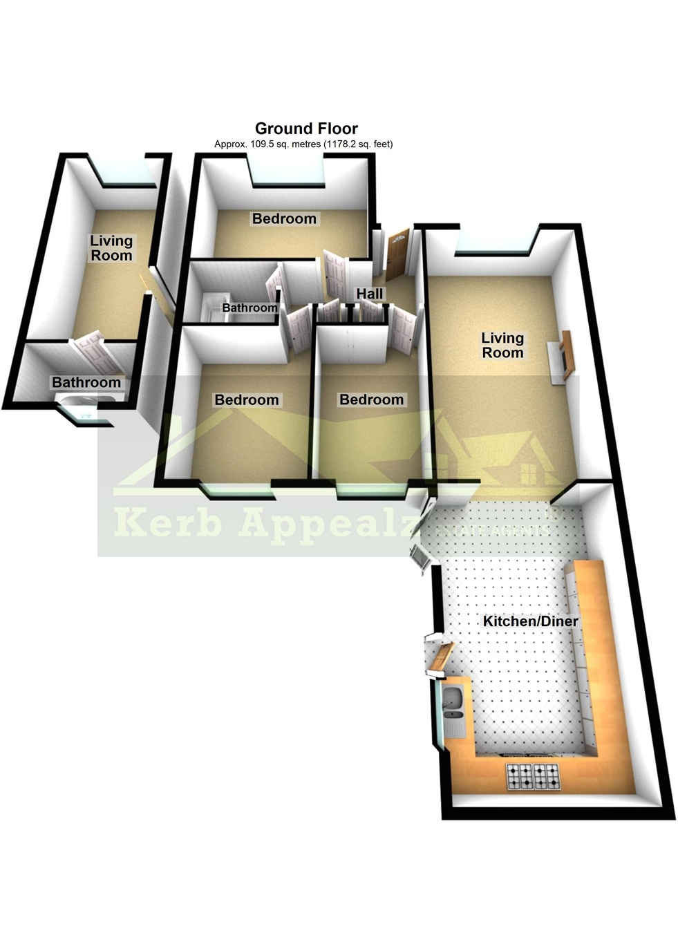 Floorplan 1 of  for sale in Carbis Bay
