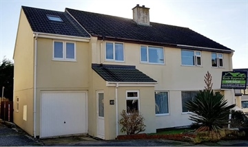 Semi Detached House, End of Terrace for sale in Crowlas: Polmor Road, Crowlas, Penzance., £240,000