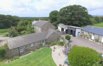 Detached House, Small Holding, With Annexe, Land sold in Penzance: Chyenhal, Buryas Bridge, Penzance, Cornwall.  TR19 6AN, £550,000