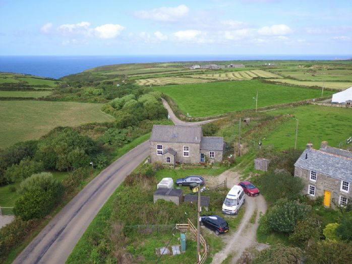 Detached House, Land, 3 bedroom Property for sale in Pendeen, Cornwall for £420,000, view photo 1.