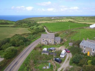 Detached House, Land for sale in Pendeen: Bowjewyan Stennack, Pendeen, Penzance, Cornwall TR19 7TN, £475,000
