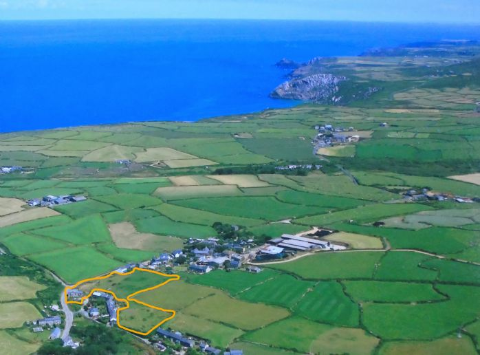 Detached House, Land, 3 bedroom Property for sale in Pendeen, Cornwall for £395,000, view photo 4.