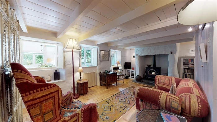 End of Terrace, House, 2 bedroom Property for sale in Lamorna, Cornwall for £375,000, view photo 3.
