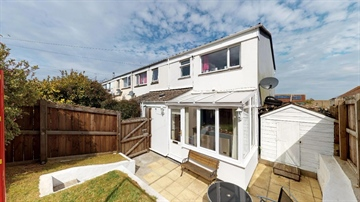 End of Terrace for sale in St Ives: Porthia Road, St. Ives, TR26 2JB, £250,000